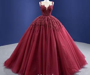 ball gown, lace flower, and high-end,pearl ,sequins image