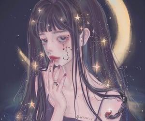 aesthetic, creepy, and anime girl image