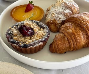 croissant, foods, and sugar image