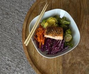 avocado, carrot, and chopsticks image