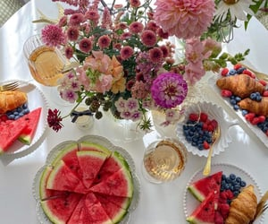 flowers, food, and summer image