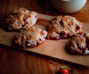 baking, food photography, and strawberry image