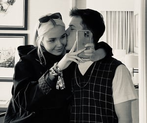 couple, mirror pic, and dylan minnette image