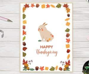 christmas card, etsy, and autumn card image