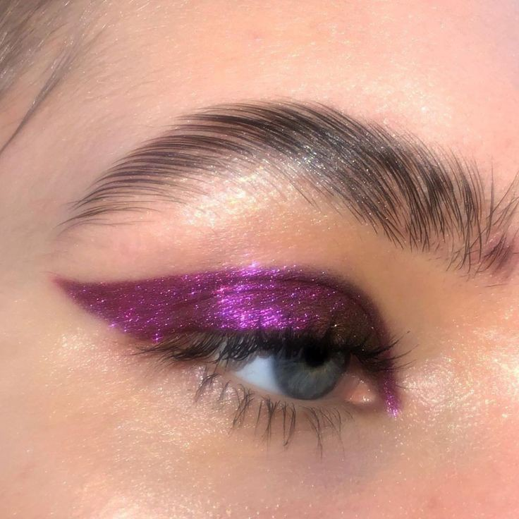 glitter, makeup, and purple image