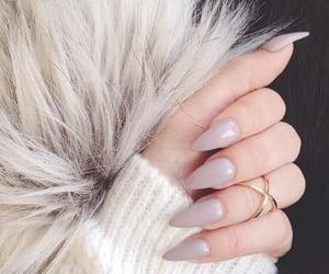 brown, nail, and girl image