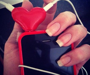heart, iphone, and red image
