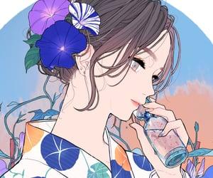aesthetic, anime girl, and digital art image