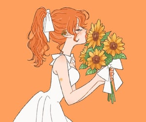 aesthetic, art, and orange image