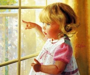 art, babies, and windows image