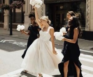 bridal, dress, and bridemaids image
