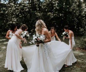 aesthetic, bridal, and dress image