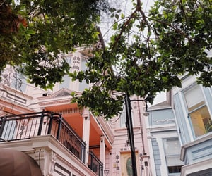 architecture, victorian architecture, and pink house image