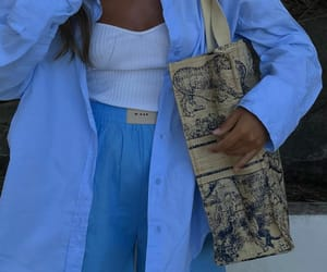 blogger, blue shorts, and Christian Dior image