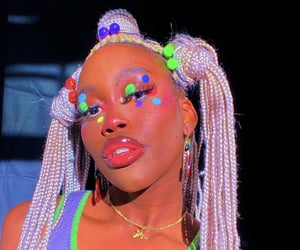 aesthetic, black women, and colorful image