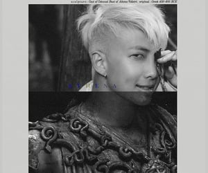 black and white, kim namjoon, and namjoon image