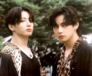 v, kim taehyung, and jeon jungkook image