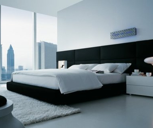 bedroom, apartment, and bed image