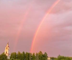 nature, purple, and rainbow image