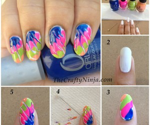 nails, tutorial, and colors image