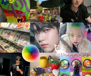 colorful, txt, and kpop moodboard image