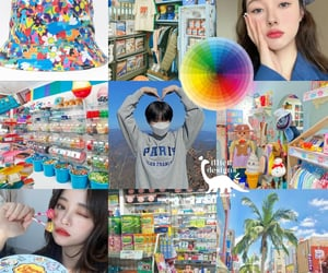 ullzang, blue asthetic, and blue moodboard image