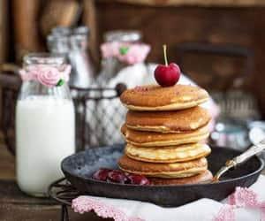 breakfast, cherries, and food image