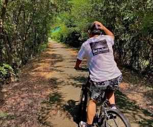 beautiful, countryside, and bike image