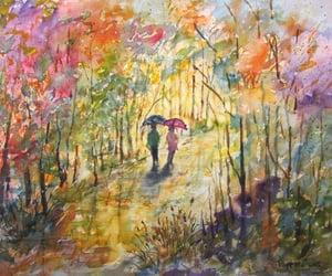 art, artwork, and autumn image