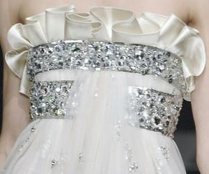 dress, silver, and white image