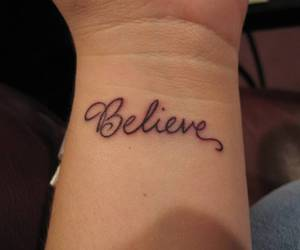 believe and tattoo image