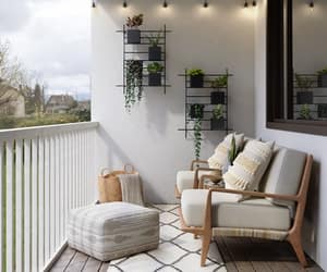 balcony, cozy, and decor image
