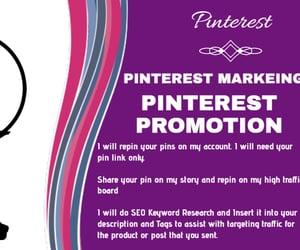 pinterest marketing, pinterest traffic, and pinterest promotion image