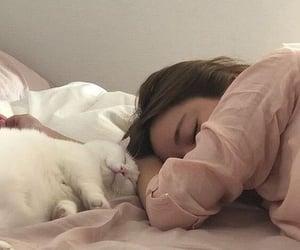girl, cat, and korean image