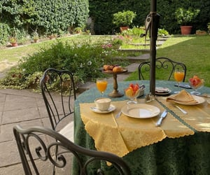 breakfast, garden, and italy image