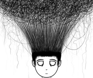 artwork, drawing, and hair image