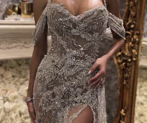 gown, luxury, and silver image