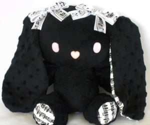 black, goth, and bunny image