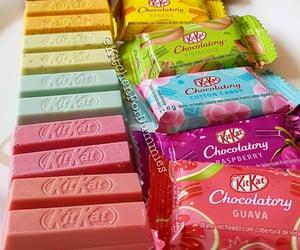 chocolate, rainbow, and food image