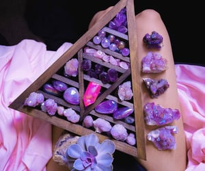 amethyst, stone, and pink image