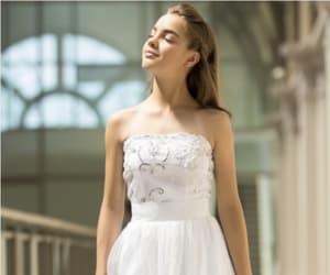 chiffon, formal, and lace image
