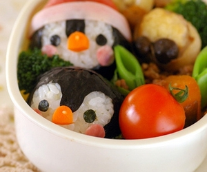 food, cute, and penguin image