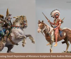 art, sculpture, and miniture art image