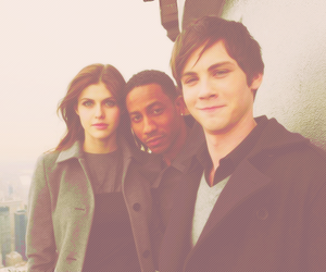 grover, percy jackson, and annabeth chase image