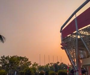 sunrise, sunset, and orange sky image