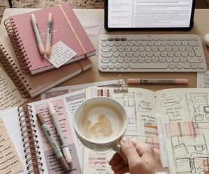 coffee, inspo, and pink image