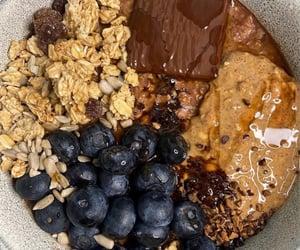 blueberries, chocolate, and granola image