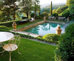 pool, exterior, and garden image