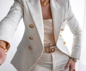 beauty, belt, and blazer image