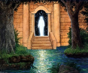 visionary art, gilbert williams, and the messenger of light image